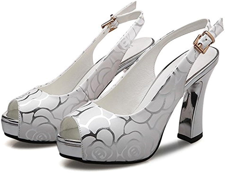 HOESCZS High Heels Hochhackige Sandalen Weibliche Sommer Neue Wasserdichte Plattform Dicken Sohlen Mode Schuhe Groe Gre Dick Mit Fisch Mund Schuhe