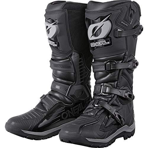 O'NEAL | Motocross-Stiefel | Enduro Motorrad | Fuß & Schaltzonenschutz, Mikrofaser Hitzeschutz, Perforiertes Innenfutter für bessere Belüftung | Boots RMX Enduro | Erwachsene | Schwarz| Größe 44