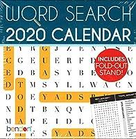 ワードサーチ - 2020 デスクカレンダー プランナー - 折りたたみ式 - スタンド付き