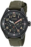 Citizen Men's 'Military' Stainless Steel and Nylon Watch