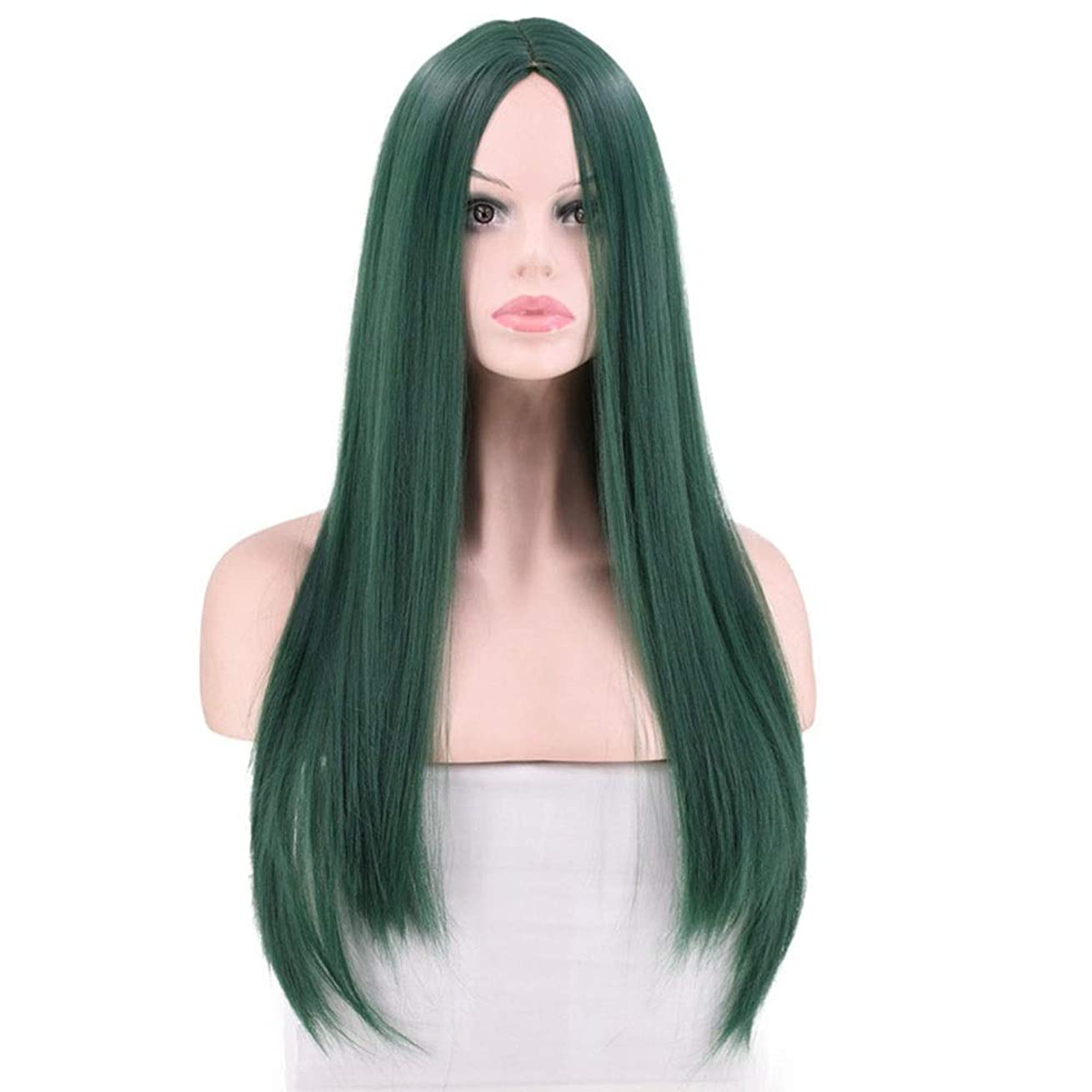 初心者適応脅威Yrattary 女性のピンクの長いストレートの髪のかつら耐熱性コスプレパーティードレスのかつらロールウィッグロールプレイングかつら (色 : Style: 2)