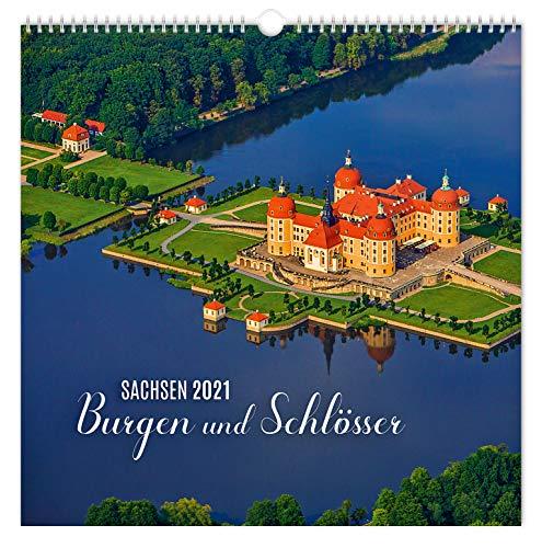 Kalender Burgen und Schlösser Sachsen 2021   30 x 30 cm