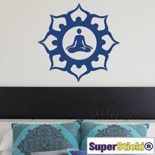 Supersticki - Adhesivo decorativo para pared (60 x 60 cm), diseño de flor de yoga