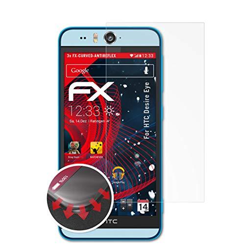 atFolix Schutzfolie kompatibel mit HTC Desire Eye Folie, entspiegelnde & Flexible FX Bildschirmschutzfolie (3X)