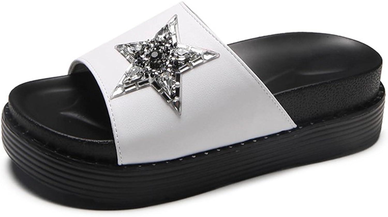 Womens High Heels Slide Sandal Summer Dress shoes Block Heel Wedge Platform Slippers