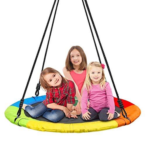 Balançoires YXX Nid D'oiseau Jardin Grande d'arbre à Soucoupe pour 3 Enfants et Adultes, Chaise hamac Suspendue extérieure avec Plate-Forme d'oscillation pour Enfants, diamètre 100cm / 40 po