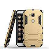 Huawei G8 Hülle,Huawei GX8 Hülle,Huawei G7 Plus Hülle, CHcase Shockproof Rüstung Hybrid 2 In1 TPU & PC Robuste Dual Layer mit Kickstand Case für Huawei G7 Plus -Gold