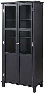 2 Door China Cabinet Black