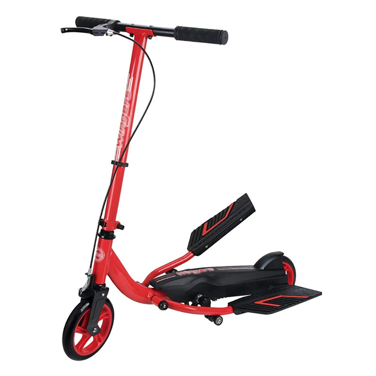 プロフィール統合キャリアスクーター 折りたたみ式キックスクーター子供用/大人用、2輪ワイドペダル調整不能自転車、非電動