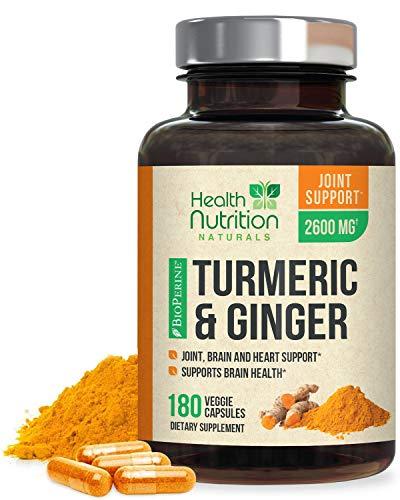Turmeric Curcumin with BioPerine & Ginger 95%...