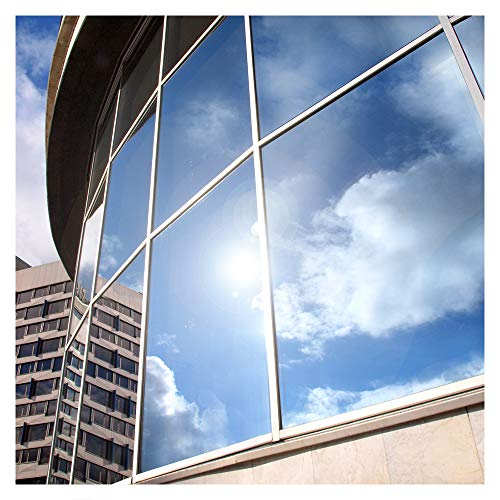 BDF EXS15 Exterior Window Film Privacy and Sun Control Silver 15, Dark - 48in X 14ft