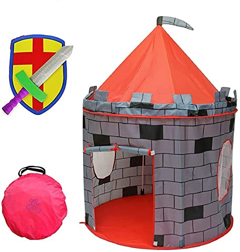 Product Image of the Kiddey Knight's Castle Kids Play Tent -Indoor & Outdoor Children's Playhouse --...