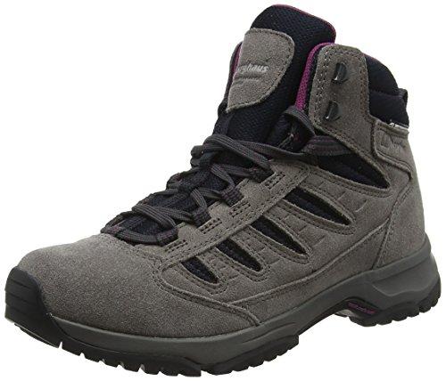 Berghaus Exped Trek 2 Tech, Chaussures de Randonnée Hautes Femme, Gris (Dark Grey/Black D90), 38 EU