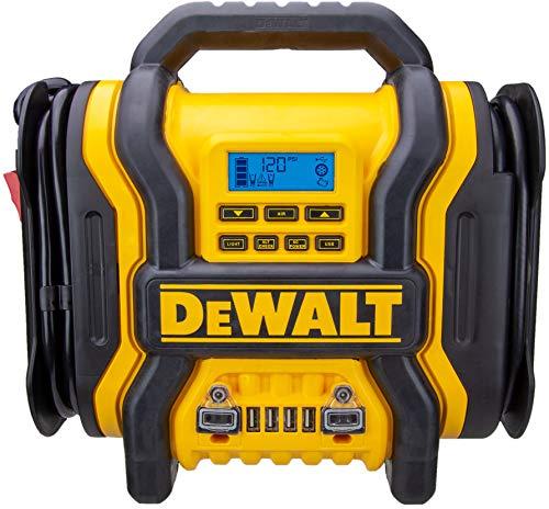 DEWALT DXAEPS14 1600 Peak Battery Amp 12V Automotive Jump Starter/Power Station with 500 Watt AC Power Inverter, 120 PSI Digital Compressor, and USB Power