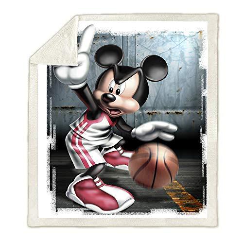 SSLLC Disney Mickey & Minnie - Manta de franela de microfibra reversible 3D para niños, para sofá, cama, sofá, salón, C08, 150X200CM