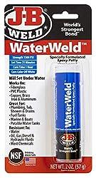 small JB Weld 8277 Water Weld Epoxy Putty – 2 oz