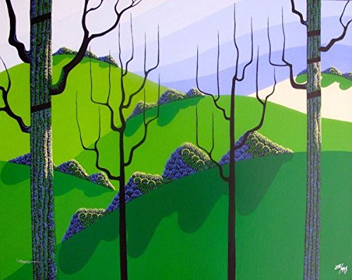"""Leos Coffers Artwork by Larissa Holt Overhills"""" Hand Signed Giclee Print. After The Original Painting or Drawing. On Canvas Eyvind Earle Protege Measures 21.5 Inches X 27 Inches"""