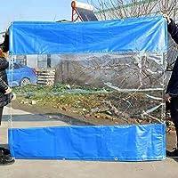 ガーデンガゼボマーキーテントサイドパネル雨と風のパネルで、屋外テントアクセサリー、透明仕切りカーテン (Size : W3.5m x H4m(11ft×13ft))