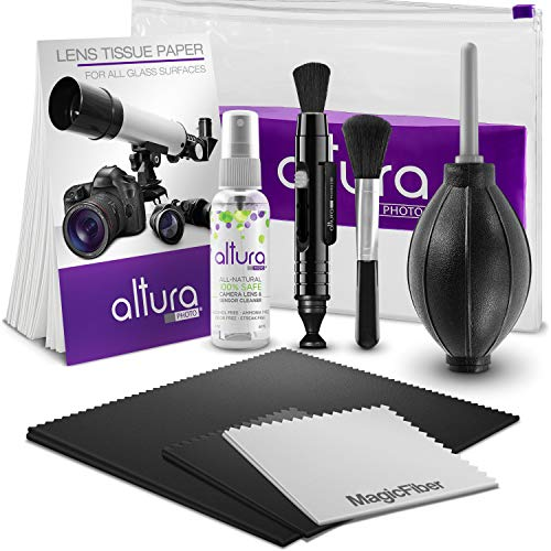 Altura Photo Professional Camera Cleaning Kit for DSLR & Mirrorless Cameras and Sensitive Electronics Bundle - Camera Accessories Kit with Altura Photo 2oz All Natural Cleaning Solution
