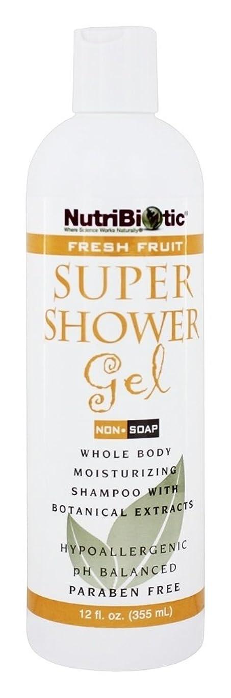 手術迅速シンポジウムNutribiotic - GSE の新鮮なフルーツの香りを持つスーパー シャワー ゲル非石鹸シャンプー - 12ポンド [並行輸入品]