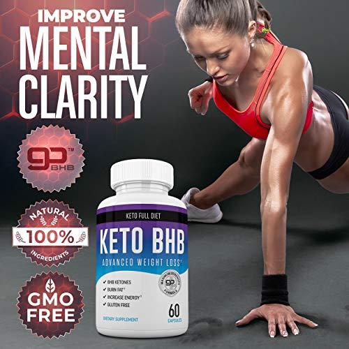 Nutriana Keto Diet Pills - Ketogenic Keto Pills for Women and Men - Keto Supplement BHB Salts - Keto Fast Exogenous Ketones - Ketosis Keto BHB Pills 60 Capsules 30 Day Supply 4
