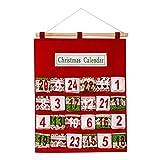 SUGUAN Feliz Navidad Adviento Calendario 41x52cm Montaje de Pared Tradicional Decoración de Navidad Adviento Calendario (Color : Multicolor)