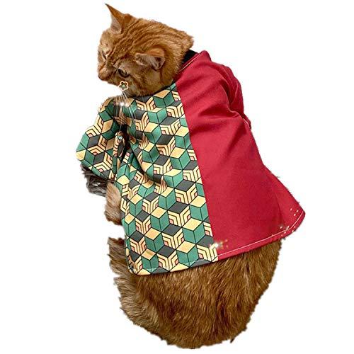 TIMSOPHIA kleding voor kleine honden katten puppy's T-shirt Kimono Huisdier Kleding Pet Shirt beschermende pak hoodie katten kleding honden kleding hondenkostuum katten kostuum, rood