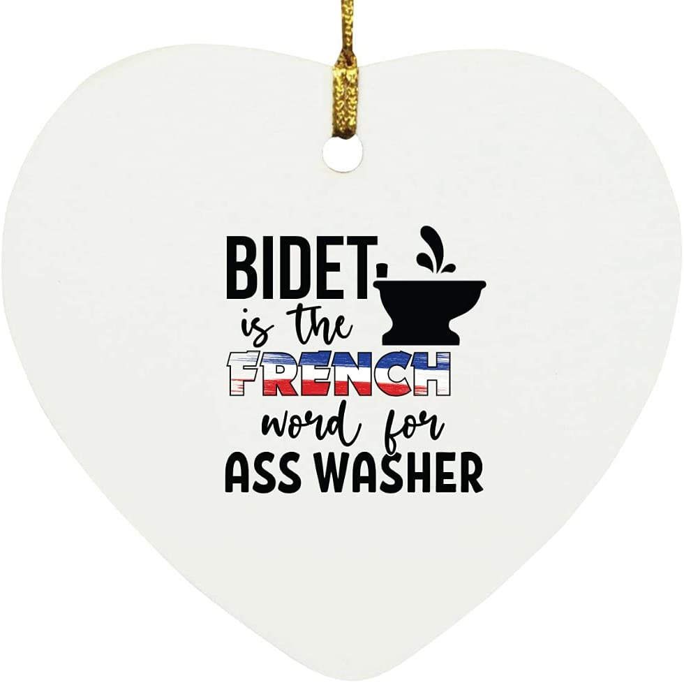 Bidet is The French Word Ornament Washer Houston Mall for Ass Heart store