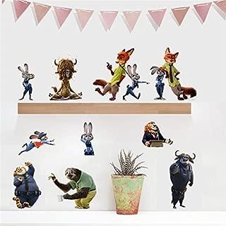 GADFLY Children, Kids, Baby, Nursery's Peal Stick Wall Decals Stickers (Zootopia)