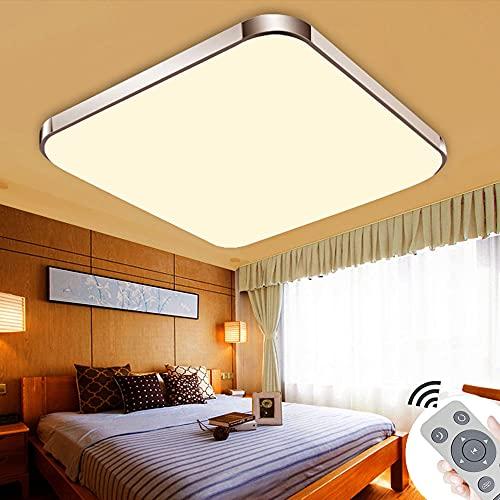 LED Deckenleuchten 48W Ultra dünn Modern Deckenlampe Energie spar Licht Moderne minimalistischer Stil-Silberrahmen für wohnzimmer küche(Dimmbar 3000-6500K)