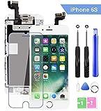 Ecran LCD Vitre Tactile Complet sur Châssis pour iPhone 6s Blanc avec Outils Bouton Home Écouteur...