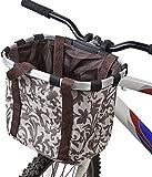 QMJYP Panier de Chien de Toile de Bicyclette, Sac d'animal familier de Cadre d'alliage d'aluminium, Panier de vélo Avant détachable pour Les Petits/Moyens Chiens imperméables