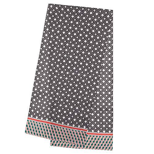 CODELLO Damen Schal, Edel schimmernd | Logo-Design | 100% Seide | 42x180 cm