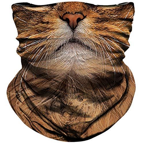2. Cat-Themed Bandana Face Mask