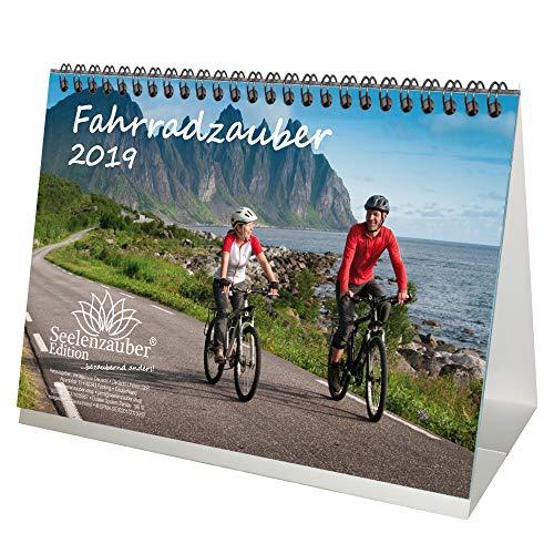 Fietstovers, DIN A5, premium tafelkalender/kalender 2019, sport, mountainbike, fiets, trekking, zadel, uitrusting, bergen, set 1 wenskaart en 1 kerstkaart, editie zeelmagie