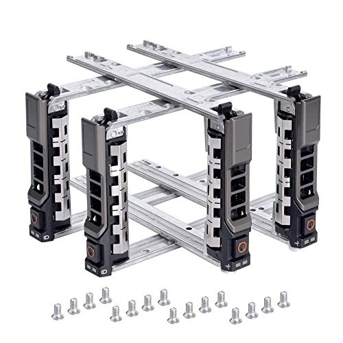 2.5 SAS SATA Hard Drive Tray Caddy 4Pack, Compatible with Dell G176J PowerEdge R610 T610 R620 R710 T710 R720 R815 R820