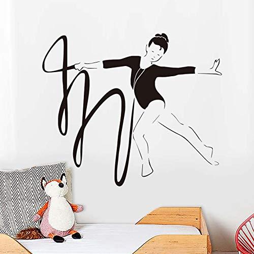 Tianpengyuanshuai Muursticker voor meisjes, vinyl applique kunst design, afneembare wooncultuur, speler