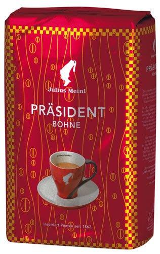 4x Julius Meinl - Präsident, Ganze Bohne - 500g