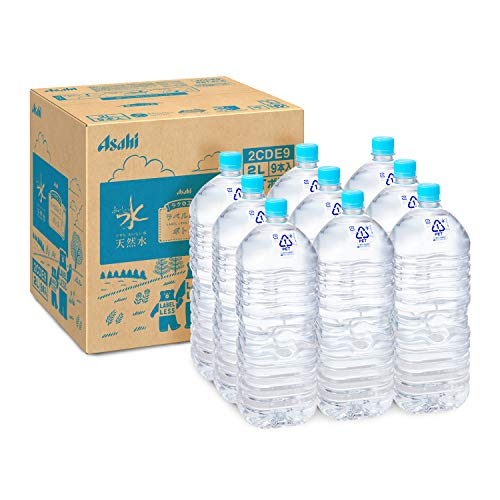 アサヒ飲料 おいしい水 天然水 ラベルレスボトル 2L×9本 [1306]