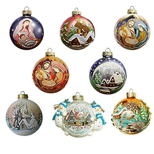 palline di Natale vetro dipinte mano