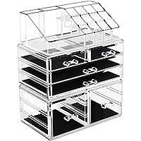 3-Piece YITAHOME Makeup Organizer Storage Case Display Box