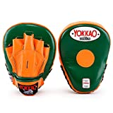 YOKKAO Curved Focus Mitts, Many Colors and Styles to Choose from (Eden/Orange Tiger)