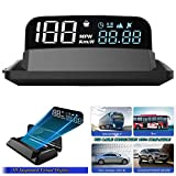 5' 4K FHD HUD Display Car GPS Gauge Head up Display Speedometer 3D Reflection Display GPS+BDS Chip 5-24V Satellite Single Driving Time Altitude Light Sensor for All Cars/Trucks/SUV/ATV/Pickup