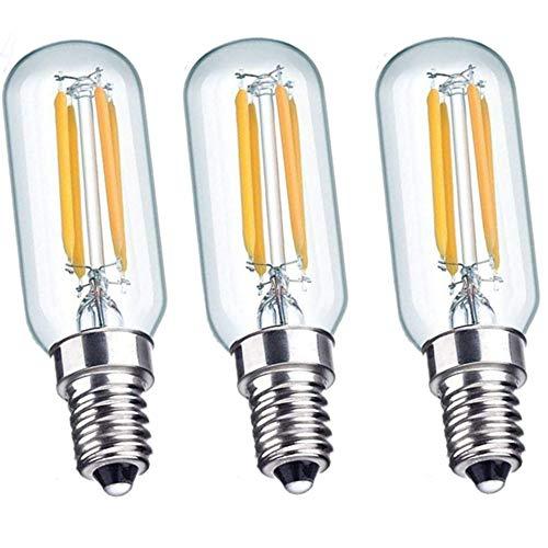 Bombillas LED para campana extractora de 4 W E14 – 40 W incandescente de repuesto T26 bombilla de filamento tubular de color blanco cálido, casquillo E14 pequeño Edison SES lámpara de electrodoméstico para nevera o microondas, luz blanca brillante, E14