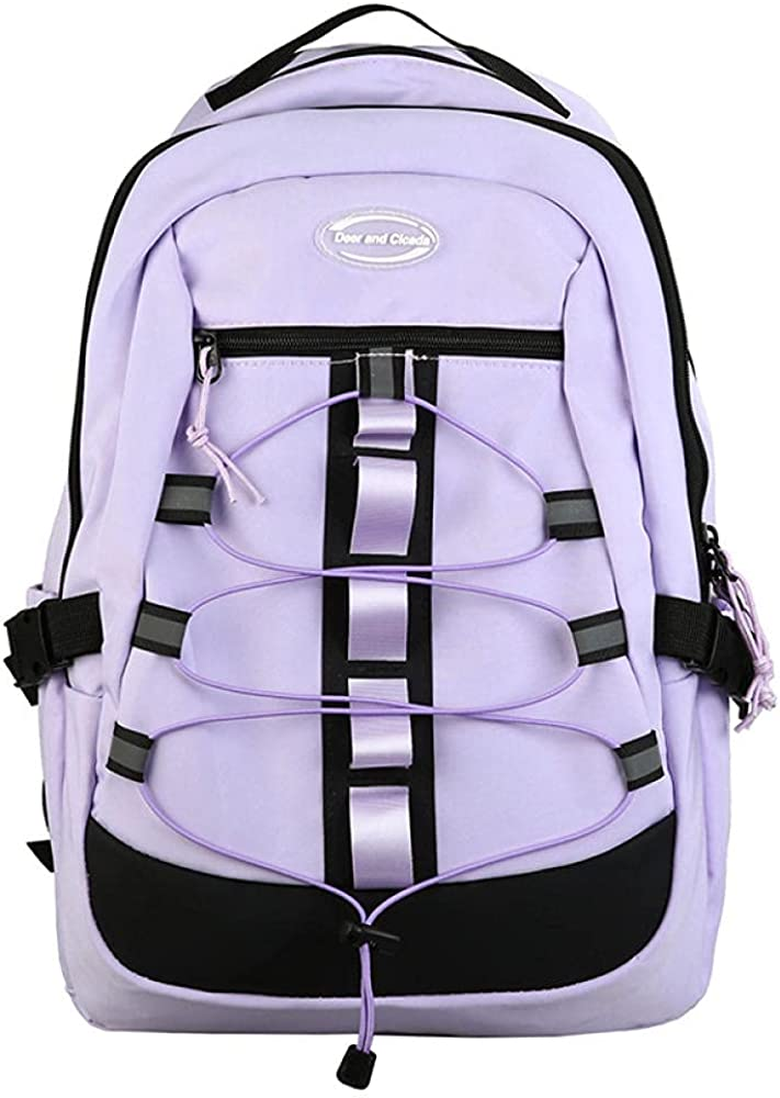 New Student Schoolbags, Street Fashion, Personality Backpacks, Multi-Purpose Large-Capacity Leisure Outdoor Travel Backpacks