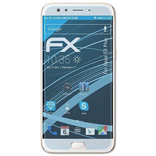 atFolix Schutzfolie kompatibel mit Oppo F3 Plus Folie, ultraklare FX Bildschirmschutzfolie (3X)