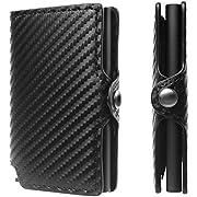 Porta Carte Di Credito Portafoglio Fibra di carbonio Blocco RFID Anticlonazione Minimalista Portafoglio da uomo slim Regali Per Uomo