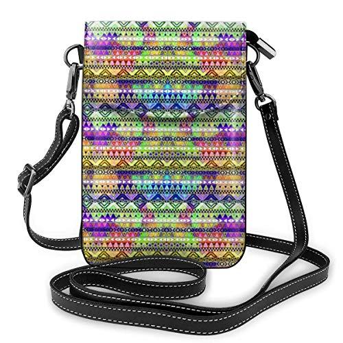 Portefeuille en cuir synthétique souple pour femme avec imprimé culture africaine - Petit sac à bandoulière pour voyage, shopping, travail