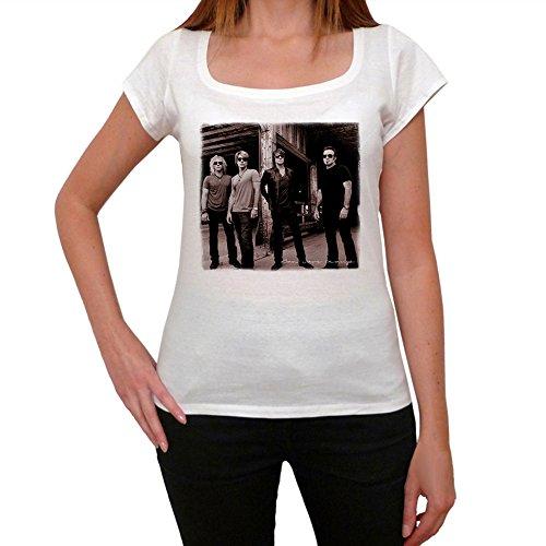 Bon Jovi Group Damen T-Shirt - Weiß, M, t Shirt Damen, Geschenk