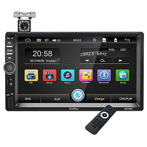 Stereo 2 Din per Auto - Galomimo Autoradio Bluetooth Doppio Din Multimedia Lettore MP5, 7 Pollici FM Car Radio con Collegamento Mirror/SD/USB/Aux/Telecamera Posteriore
